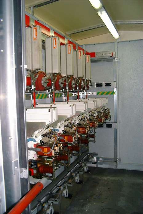 Loge de distribution de courant continu 3kV