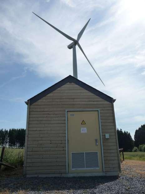 cabine de tête haute tension pour un parc éolien