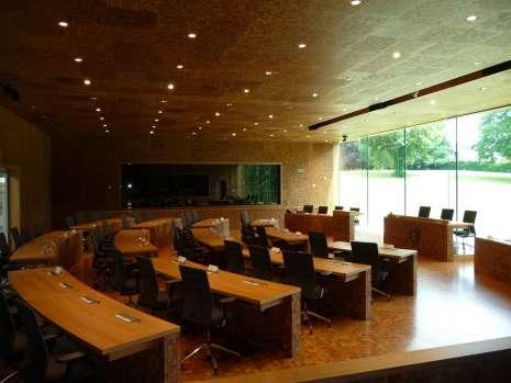 Salle plénière du parlement de la Communauté germanophone
